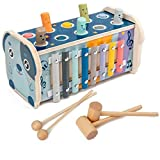 Hamster Spiel Hand Klopfen Klavier Xylophon Aus Holz Kinder Spielzeug 8 Verschiedene Töne Musik...
