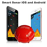 ZSHXF Bluetooth Smart Fish Finder -fischfindertest, Portable Angeln Sonar Sensor Fisch...