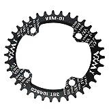 Injoyo Leichtes Ovales 104mm BCD Schmales Breites Einzelnes Kettenblatt Für MTB Rennrad - Schwarz,...