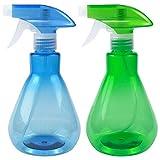 Disino 2 Stück Sprühflasche, Sprühflasche Pflanzen Blumen für Garten, Sprühflaschen Kunststoff...