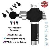 Nwcl Portable Deep Tissue Massager, Booster A2 Handheld Muscle Massager Gun, Massagepistole für...