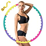 CAVEEN Fitnessreifen, Hula Hoop Yoga Circle für Fitness Abnehmbar Design Fitnesskreis mit Magnet...