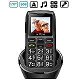 artfone Seniorenhandy mit großen Tasten und ohne Vertrag, Dual SIM Rentner Handy mit Notruf-Knopf,...