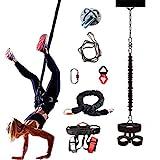 ZEH Luft Anti-Gravity-Schnur-Widerstand-Band-Set, Bungee-Tanz Fliegen Pilates Elastische Aufhängung...
