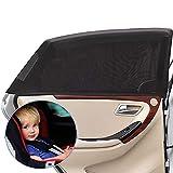 Sonnenschutz Auto Baby/Kinder Doppelseitiges (2 Stück), Universal Sonnenblende Auto Net,...