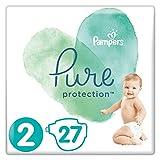 Pampers Pure Protection Windeln, Gr. 2, 4kg-8kg, Tragepack (1 x 27 Windeln)