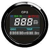 Digitaler GPS-Tachometer LCD-Geschwindigkeitsmessgerät Kilometerzähler mit GPS-Antenne für Auto...