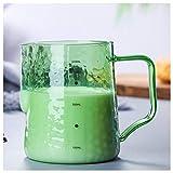Milchkännchen Milchschildbecher mit spitzem Mund Kaffee Schaumbecher Mokka Latte Glas Großraum...