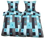 Leonado Vicenti 4tlg Flausch Bettwäsche 135x200 cm oder 155x220 cm Microfaser Thermo Fleece Winter...