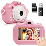 YUNKE Kinderkamera, 3,0-Zoll-HD-Touchscreen-Digitalkamera mit 30MP 1080P 32G...
