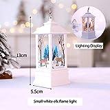 Leoie Weihnachtsaußenleuchten Dekoration Vintage Weihnachtskerze mit LED Flamme Lampe Hanging...
