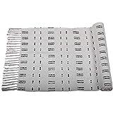 Trade Star Indische Meditationsmatte, Blockdruck, 6 x 183 cm, Baumwolle, Yoga-Teppich, handgewebt,...