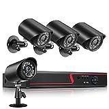 EXCLVEA HD CCTV Kamerasystem 2MP Outdoor WiFi IP Kamera mit 1TB Festplatte, unterstützt...