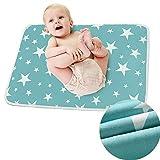 2 Stück Tragbare Wickelauflage, Wasserdicht Wickelunterlage für Babys und Kleinkinder, Faltbar...