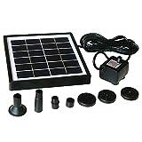 SH Solar-Wasserpumpen-Set, 1,5 W, solarbetriebener Brunnen, Outdoor-Bewässerung, Tauchpumpe,...