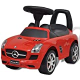 VIENDADPOW Kinderfahrzeuge Mercedes Kinderauto Fußantrieb Rot