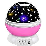 HUOGUOSHU Delicacy LED Sternenlicht Projektor, 360° Drehen, USB Wiederaufladbare, Einschlaflicht...