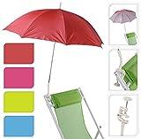 Sonnenschirm für Kinderwagen Ø 100 cm UV Schutz 50+ Buggy Schirm für liegen (Blau)
