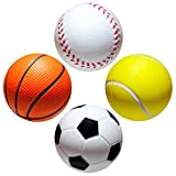 envami   4Stk   Stressball im Mini Sportball Design   6,35cm   Antistressbälle Stressbälle in...