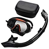 banapoy Schnorchelausrüstung, verstellbare Ausrüstung, schwarzes Objektiv aus gehärtetem Glas...