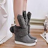 Mode Stiefel Damenschuhe in Großen Größen Schlauchstiefel Trend Passt zu Allen Stiefeln Kurze...