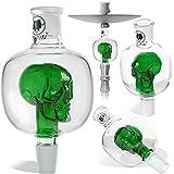 DILAW® Shisha Molassefänger Totenkopf Bunt (aus Glas für (Schliff 18/8) - Wasserpfeife,...