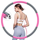 BIAOQINBO Fitness Sport Hoop Reifen Erwachsense, Fitnessreifen aus Edelstahl Schaumstoff, 8 Segmente...