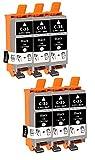SupplyGuy 6 Druckerpatronen kompatibel mit Canon PGI-35 BK Schwarz für Pixma IP100 IP110 IP110 +...