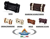 Tasche Montegrappa Schabracke Kunstleder 100% Made in Italy - Wähle die Farbe - cremefarben