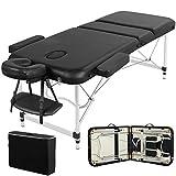 Yaheetech mobile Massageliege klappbare Therapieliege tragbares Massagebett leichter Massagetisch 3...