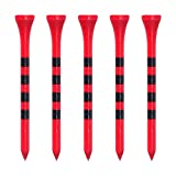 Zivisk Golf Tees Holz - 100 Stück 83mm Bambus Tees(3-1/4',Rot)