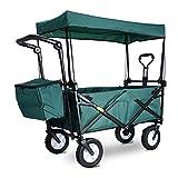 Faltbarer Bollerwagen Folding Garden Trolley Wagen Heavy Duty Wagen mit Canopy Multifunktions...