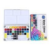 Bestyyo 12/18/24/36 Farben Metallic-Wasserfarben, solide Metallic-Aquarellfarben, Set mit...