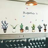 Raumdekoration Home Wandaufkleber Kaktus Topf Fensterbank Wohnzimmer Schlafzimmer Home Decoration...