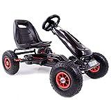 Lean Kinder Go-Kart Top Speed Racing Car Black Tretauto Gokart 3-7 Jahre Luftreifen