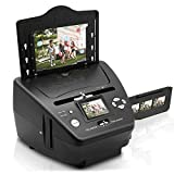 QCHEA Digital 3-in-1-Foto-Scanner, Dia- und Filmscanner - Convert 35mm Film Negatives & Slides - mit...