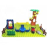 bausteine,Spielzeug,Geschenke für Jungen,Big Size DIY Bausteine Swing Säge Tisch Fisch...