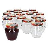 MamboCat 18er Set Marmeladengläser 212 ml I Vielseitige Twist Off Gläser zum Befüllen I...