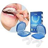 Y.F.M Aufbissschiene (4 Stk) inkl. Aufbewahrungsbox, BPA frei, Zahnschutz beim nchtlichen...