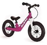 Bachtenkirch 12' Lernlaufrad Go Bike, pink/weiß mit Luftreifen und Bremse (608-GB-02)