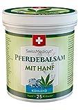 SwissMedicus Pferdebalsam mit Hanf kühlend, Massagecreme für Muskeln und Bänder, ideal für...