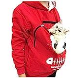 LILIGOD Damen Kapuzenpullover Hoodie Animal Pouch Hood Mode Wild Sweatshirt Frauen Pocket Pullover...