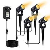 LED Gartenbeleuchtung, CHINLY 3W Gartenleuchten, LED-Gartenscheinwerfer mit zusätzlichem 20 m Kabel...