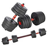 INNE Hantelset + Hantelstange 30KG 2 Hanteln 15 kg Verschiedene Übungsmöglichkeiten, trainiert...