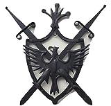 artigianatodaloise Handwerkskunst Scudo Wappen Waffeleisen Spade Adler Mittelalterrock Wand Wand