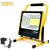 LXDDP 200W super helle LED-BAU-Flut-Beleuchtung, Wieder aufladbare tragbare Flut-Beleuchtung im...