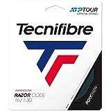 Tecnifibre Unisex-Adult Rolle 200M Razor Code Carbon 1.30 Tennissaite, 1.30mm