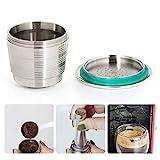 MOGOI Auffüllbare Kaffeekapsel, Wiederverwendbare Kaffeekapsel Aus Edelstahl, für umweltbewusste...