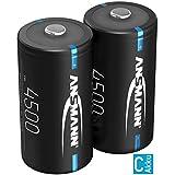 ANSMANN Akku C 4500mAh NiMH 1,2V - Baby C Batterien wiederaufladbar mit geringer Selbstentladung...