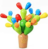 a ray of sunshine Balance Kaktus,Montessori Steckspiel Stapelspiel,Montessori Holz Steckspiel...